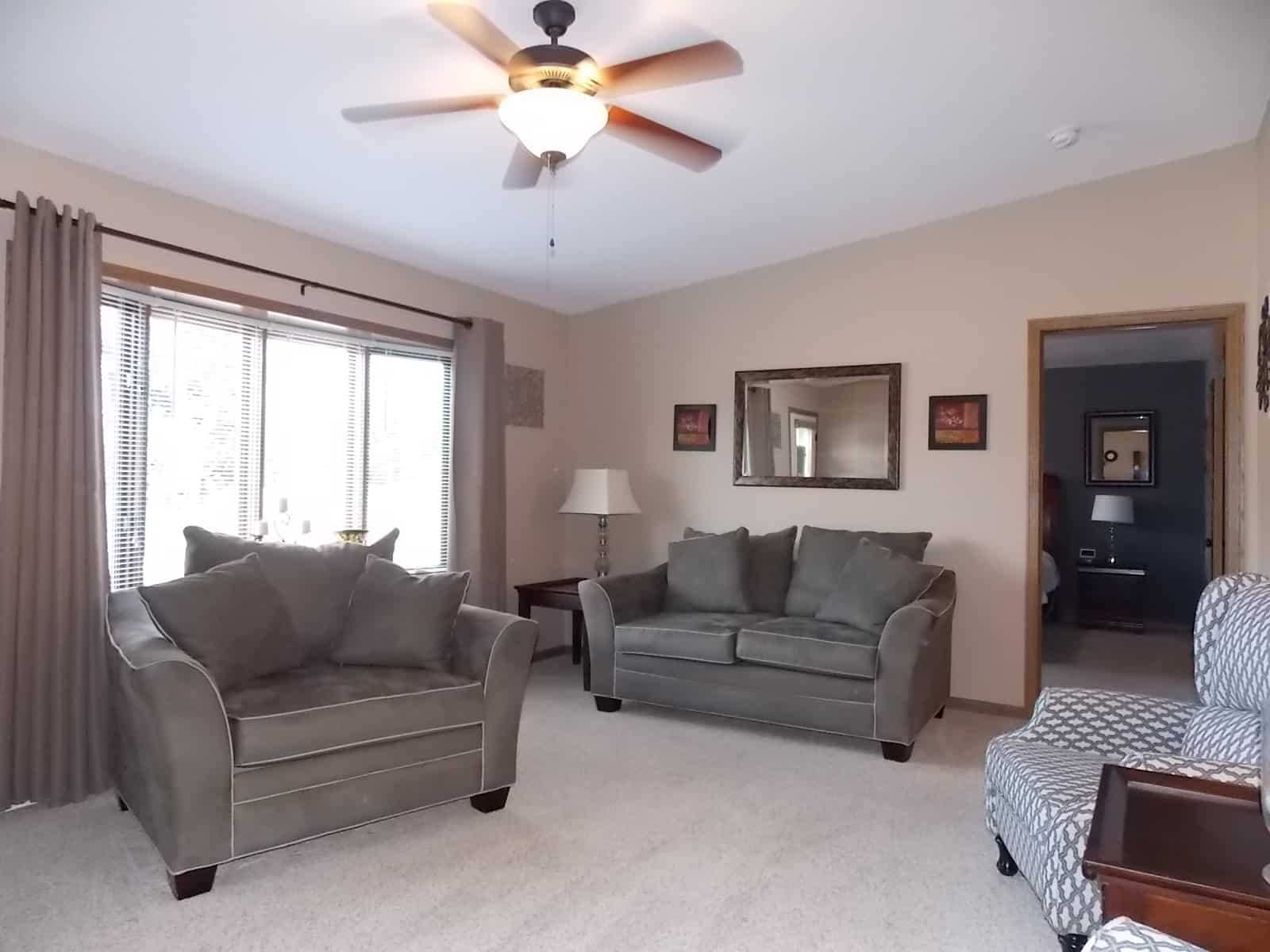 spacious living room in 111 Plumb St Milton, WI