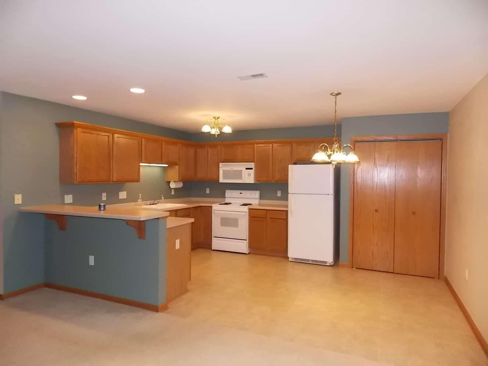 spacious kitchen in Delavan, WI condo